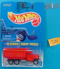 C231 HOT WHEELS 1991 COLLECTOR NO.100 PETERBUILT DUMP TRUCK RED  NEW ON CARD