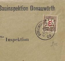 J68 1908 Germany Bavaria Official Stamp *E* Overprint Donau Cover Kempten