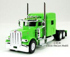 Peterbilt 389 Tandem Axle Sleeper Green HO 1/87 Scale Tonkin #506