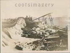 1936 Washed Out Railroad Borkum Germany Press Photo