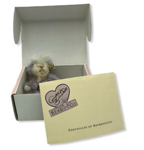 Annette Funicello PURPLE PASSION 5 inch Mohair Bear with Purple Heart on Paw
