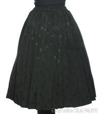 VINTAGE German ethnic folk costume skirt pleats shiny black elegant fashion boho
