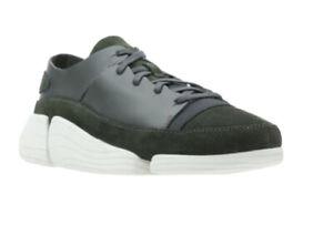 Clarks Ladies Trigenic EVO Dark Green Leather Trainers Size 8 D EU 42 RRP £130