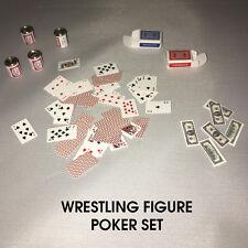 WWE Wrestling Figure Elite Poker Set Accessoire-argent cartes bière APA JBL 1:12