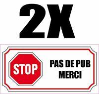 STICKER PAS DE PUB STOP SVP BOITE AUX LETTRES CIRCUIT 12x4cm AUTOCOLLANT PB475