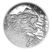 2015 Canada 1/2 kilo Proof Silver $125 Growling Cougar - SKU #88344