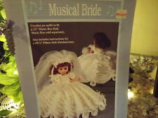 Musical Bride Crochet Pillow Doll Pattern Love the ruffles & the loops on dress