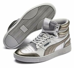 Puma Ralph Sampson Mid Cloud # 371766 01 Metallic Silver Men