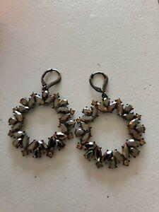 Dark Stone Dangle Earrings