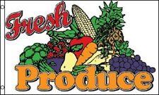 3x5 Advertising Fresh Produce Fruit Vegetables Flag 3'x5' Banner Brass Grommets