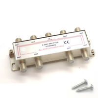 8 Way Coaxial Splitter 1 Male IN Coax to 8 Female OUT TV Aerial Virgin Sky Boxes