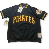 NEW Pittsburgh Pirates Mitchell & Ness 1/4 Zip Batting Practice Jersey Large NWT