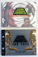 2 lot, 30 card postcard books Star Wars The Toys + Star Wars Aliens & Creatures