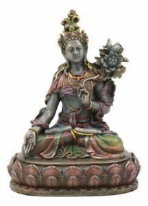 Bodhisattva White Tara Meditating Statue Buddha Of Compassion And Healing