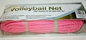 Sportcraft Vintage Volleyball Net High Quality Tie-on Style 32 feet Net PINK NOS