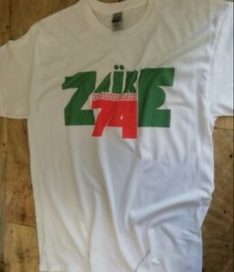 Zaire 74 T Shirt African Music Festival Soul Boxing Ali Foreman James Brown F100