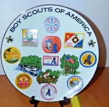 VINTAGE BOY SCOUT NATIONAL JAMBOREE COMMEMORATIVE PLATE with images of patches