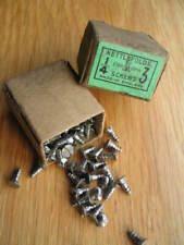 Vintage Nettlefolds slot head steel c/s wood screws 1/4 inch x 3's x Box 1 gross