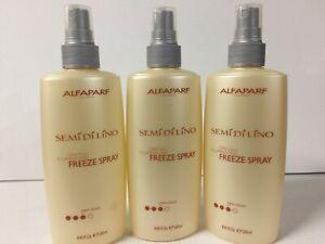 ALFAPARF Semi Di Lino Cristalli Illuminating Freeze Hair Spray, 8.45 Oz (3 pack