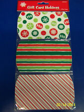 Christmas Holiday Green Red White Party Giftwrap Wrap Box Gift Card Holders