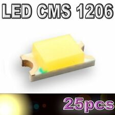 111/25# LED CMS 1206 blanc chaud -- 500mcd -- 25pcs