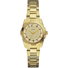Guess Donna Watch Woman Uhr W0234L2 Mini Intrepid Acciaio Oro Quadrante Bianco