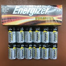 12 x Energizer C Industrial Battery LR14 Size Alkaline Long-lasting Batteries