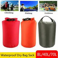 8L/40L/70L Waterproof Dry Bag Canoe Kayak Boating Outdoor Swimming Floating Pack