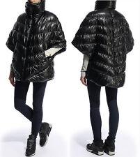 Black Nike Women's Cascade Duck Down Puffer Poncho Coat Jacket Size Medium~NWT
