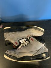 "Air Jordan 3 Retro ""Stealth"" (Size 10, black, grey, red, bred, cement)"
