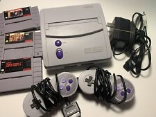 Super Nintendo SNES-001 Mini JR Console bundle with 3 games 2 controllers