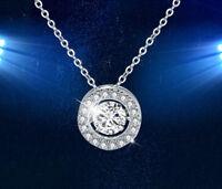 Halskette Dancing Stone Anhänger mit Swarovski Kristall 18K Weißgold vergoldet