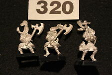 Games Workshop Warhammer High Elves White Lions of Chrace x3 Metal Figures