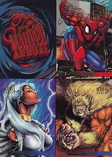 1995 Flair -  Annual Promo Sheet - Spider Man - Storm - Sabertooth etc - 5x7