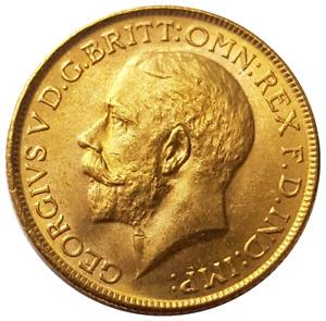 1916-M King George V Gold Sovereign (Melbourne)