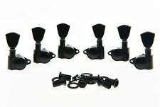 *NEW Vintage Style Tulip Button TUNERS for Gibson Les Paul & Acoustic 3x3 Black