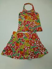 The Childrens Place Girls Size 4 Floral Knit Skirt & Shirt Outfit New