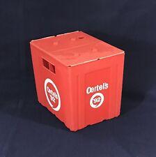 OERTELS 92 BEER BOTTLE CARRIER RED PLASTIC CASE 12 PK VINTAGE LOUISVILLE KY