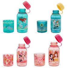 Disney Store Snack Drink Bottle Ariel Frozen Minnie Mouse Princess New