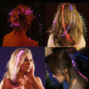 Sets of Led Hair Extensions. Led hair braid for Xmas parties New Year Eve
