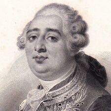 Portrait XIXe Louis XVI Roi de France Révolution Française 1850