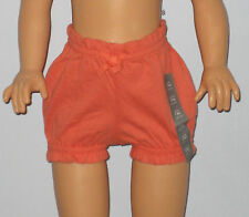 New BABY GAP Size Newborn Up to 7 Lbs. Girls Orange Ruffle-Trim Bubble Shorts