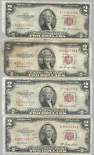 🔥 Rare Old Vintage US Red Seal 1953 $2 Two Dollar Bill Collection Banknote Lot
