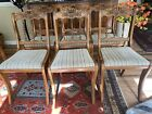 Vintage Set TELL CITY Mahogany Carved Flower Back Dining Chairs (Can Ship) 4580