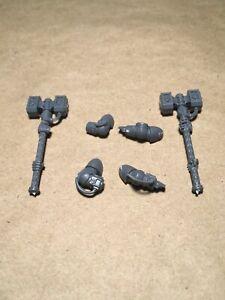 Warhammer Deathwatch Space Marine Heavy Thunder Hammer Bit Lot X2 W/arms