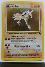 HOLO Hitmonlee 7/62 - NM - RARE Fossil Pokemon Card - $1 Combined Shipping