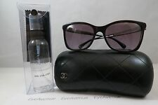 Chanel 5348 c.1461/S1 Burgundy/Gunmetal New Authentic Sunglasses 57mm w/Case