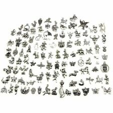 Animal Charms, Wholesale Bulk 100 Pack Mixed Tibetan Pendant Charms for Jewel T1