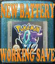 GENUINE POKEMON CRYSTAL VERSION NEW BATTERY WORKING SAVE GAMEBOY GAME BOY COLOR