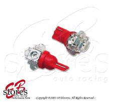 Red Step Light 5 Flux LED T10 Wedge Light Bulbs 2pcs 168 2821 2886X (1 Pair)
